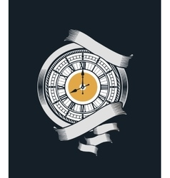 Mechanical antique clock vector image