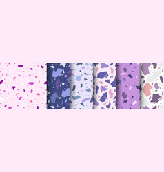 mediterranean pattern terrazzo floor purple pink vector image