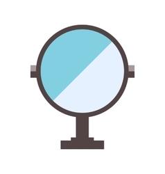 Mirror flat vector image