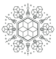 modern hexagon arrow design tattoo image vector image