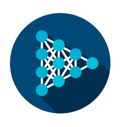 neural network circle icon vector image