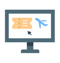 online booking flat vector image