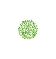 organic leaf logo tea logo vector image