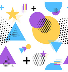pattern geometric flat shapes vector image