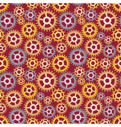 pattern made of gears vector image