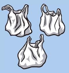 plastic bags set polyethylene vector image