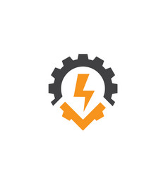 point chain power logo designs foe electric vector image