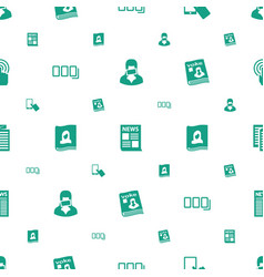 Press icons pattern seamless white background vector