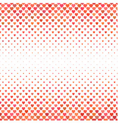 red heart pattern background - love concept vector image