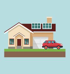 residential house cartoon vector image