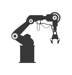Robot arm icon Machine design graphic vector