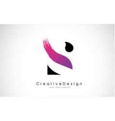 S letter logo design with creative pink purple vector