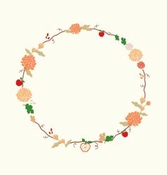 September Wreath vector