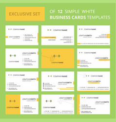 set of 12 gym rod creative busienss card template vector image
