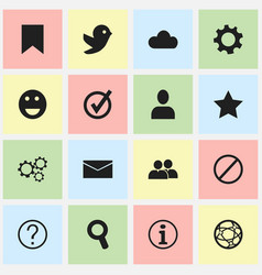 Set of 16 editable internet icons includes vector