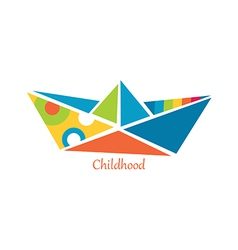 Ship from childhood vector image