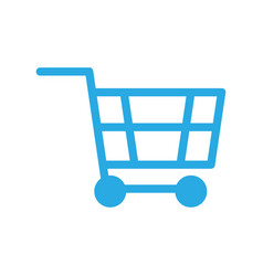 Shopping cart silhouette sign icon online vector