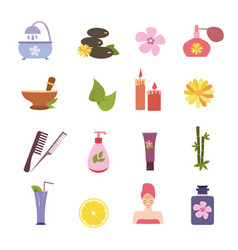 Spa sign collection vector