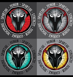 Spartan warrior face profile design graphic vector
