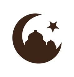 Star and crescent - symbol of Islam vector