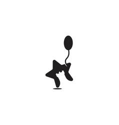 Star castle balloon child games logo designs vector