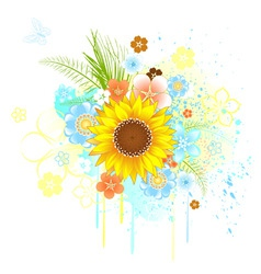 summer sunflower vector image