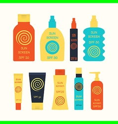 sunscreen vector image