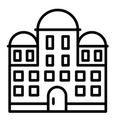 Temple building icon outline style vector