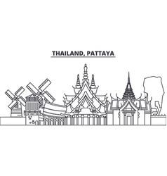 thailand pattaya line skyline vector image