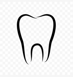 tooth outline icon dentistry clinic whitening vector image