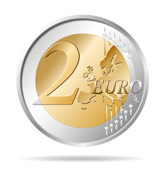 Two euro coin 2 vector