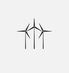 Wind turbine energy icon flat vector