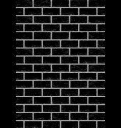 black old brick vertical background vector image