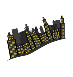buildings and cityscape side scene icon vector image