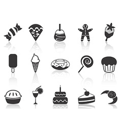 dessert icons set vector image vector image