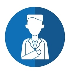 doctor healthcare professional clinic with shadow vector image vector image
