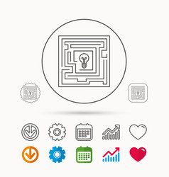 Labyrinth icon problem challenge sign vector