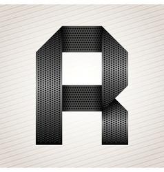 Letter metal ribbon - R vector image vector image