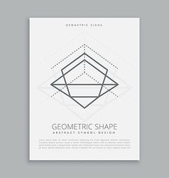 mystic geometric lines vector image vector image
