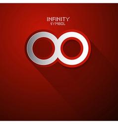Paper Infinity Symbol vector image vector image