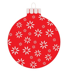 Red christams ball vector image vector image