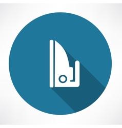 Steam iron icon vector image