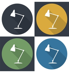 Table lamp set icon vector image vector image