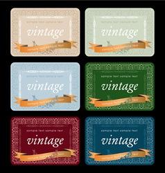 wine labels17 vector image vector image