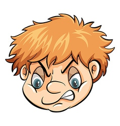 A head of a problematic boy vector image