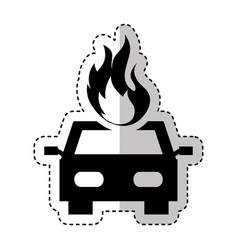 car insurance isolated icon vector image