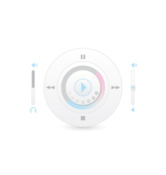 Music player control interface 2 vector image
