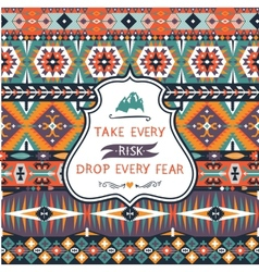 Seamless colorful decorative pattern in tribal vector image