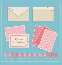 valentines day envelopes set vector image vector image