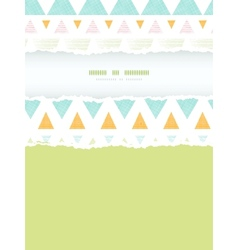 Abstract ikat triangles stripes vertical torn vector
